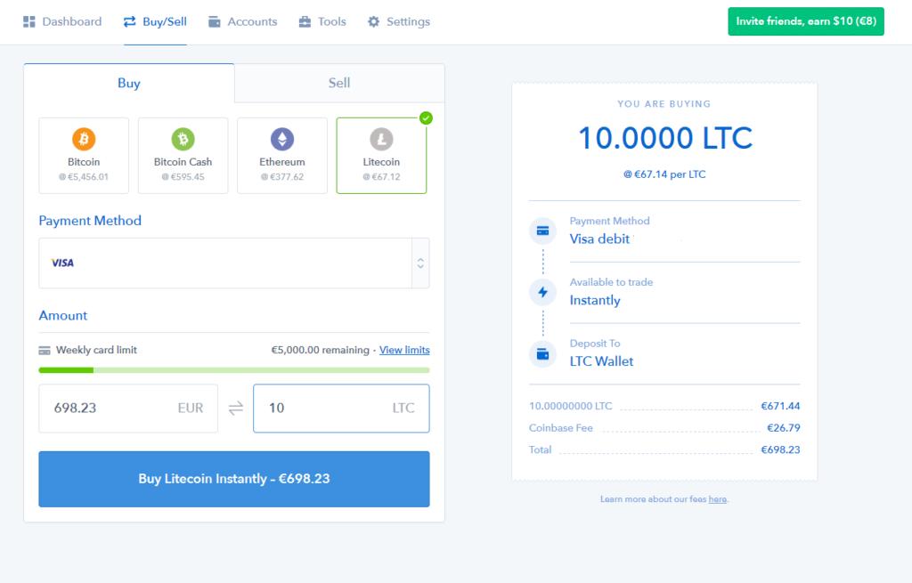 litecoin - coinbase 3