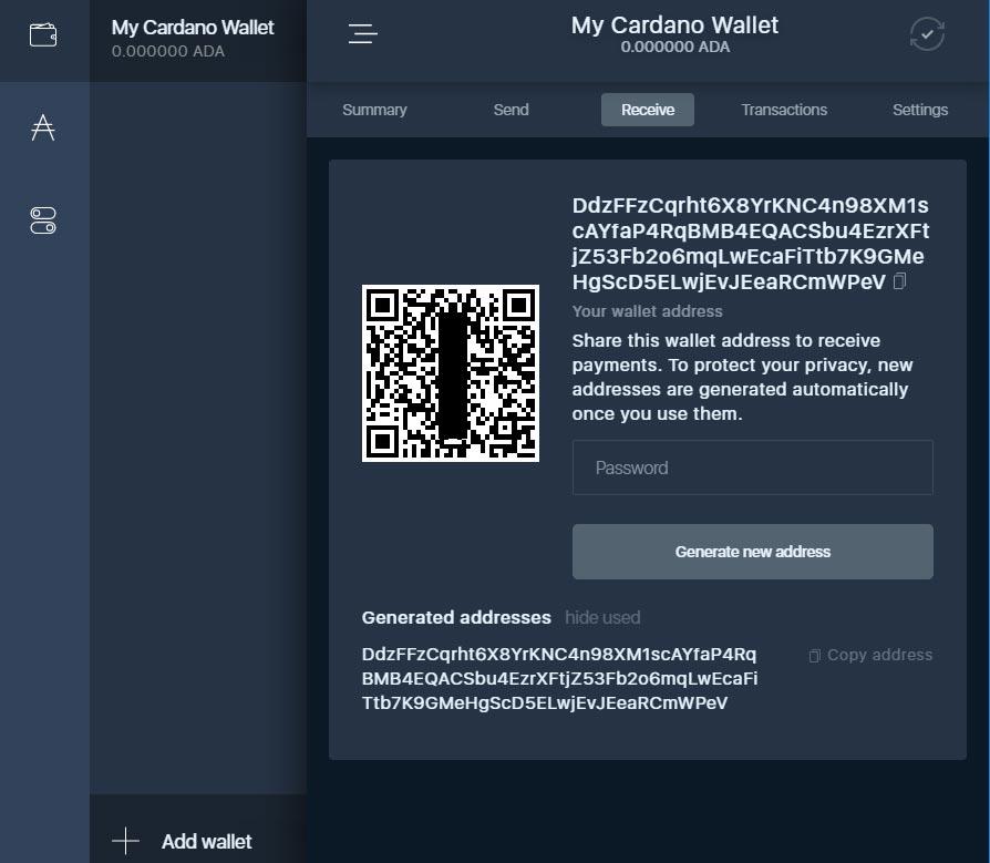 cardano - wallet 7