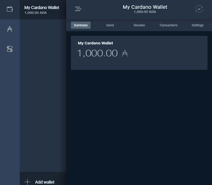 cardano - wallet 8