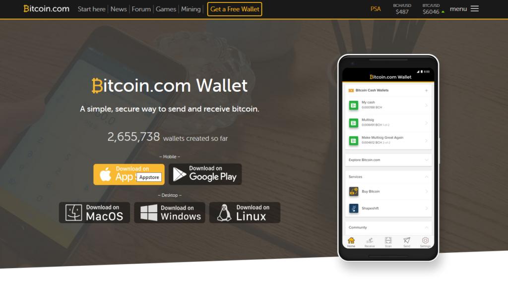 bitcoin cash - wallet 1