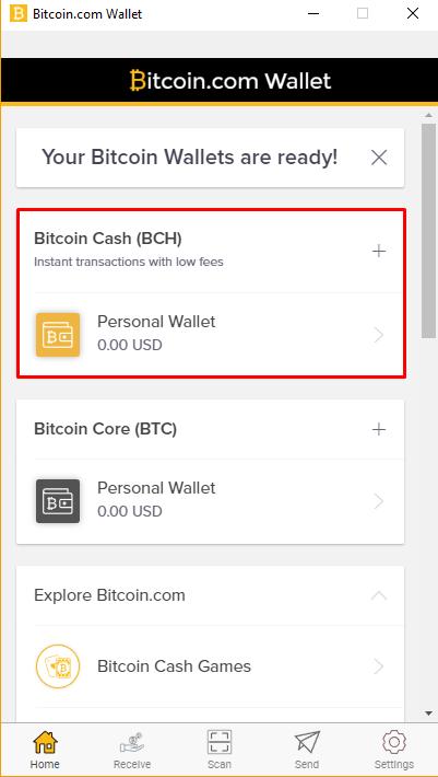 bitcoin cash - wallet 2