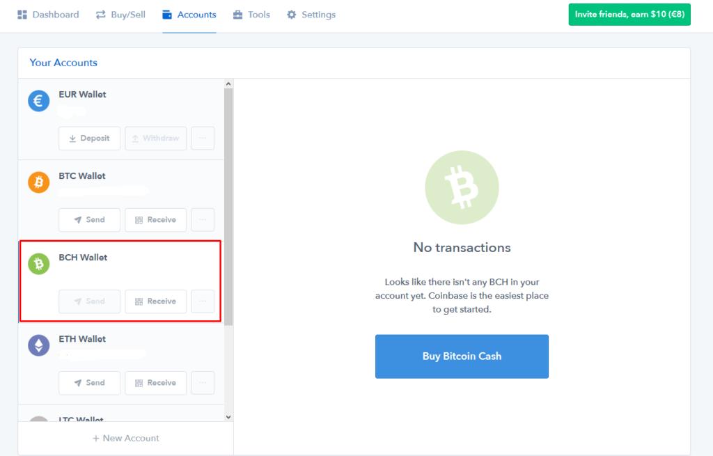 bitcoin cash - coinbase 4