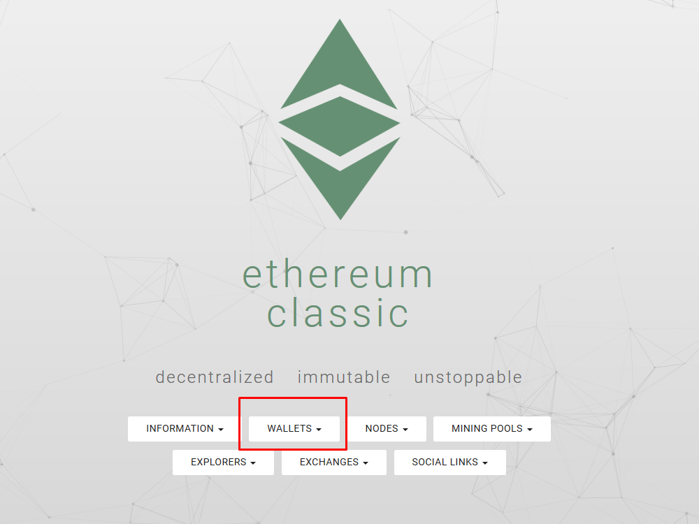 ethereum classic - wallets
