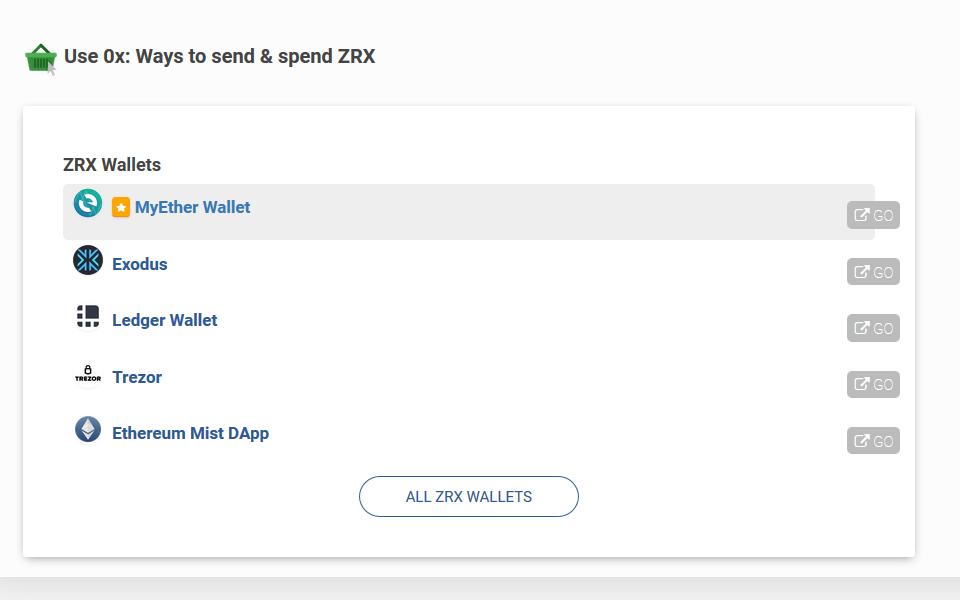 0x - wallets