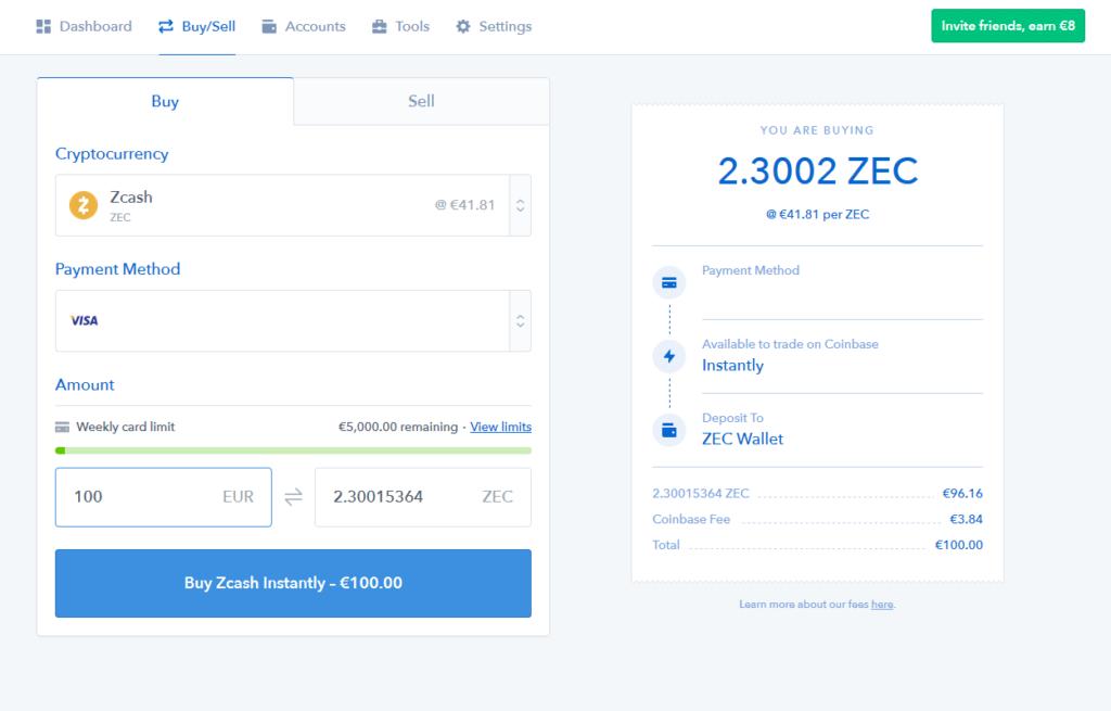 zcash - coinbase 3
