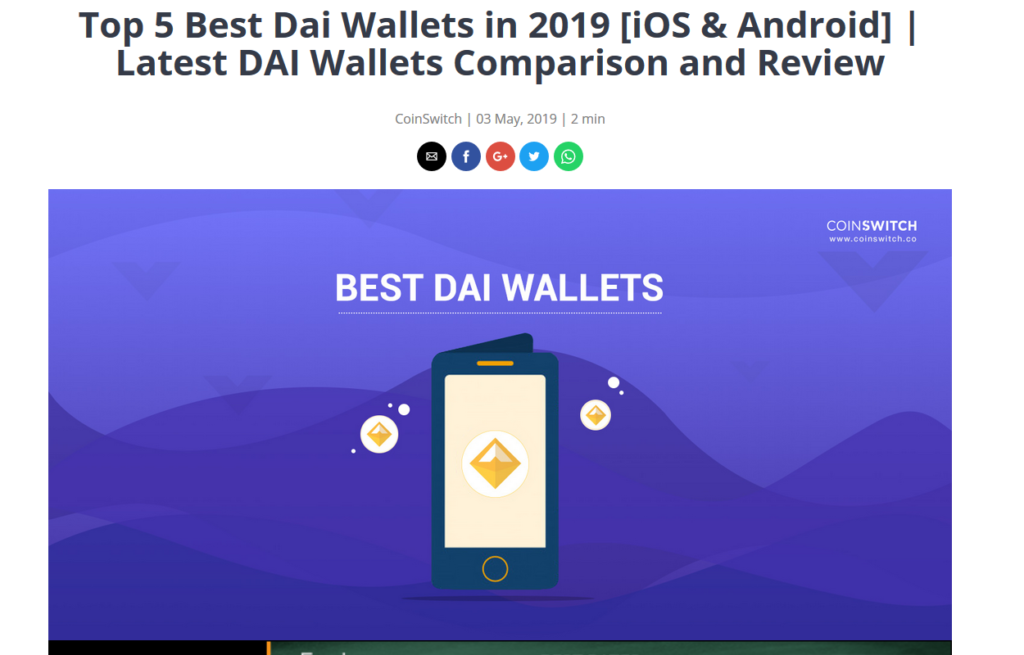 dai - wallets