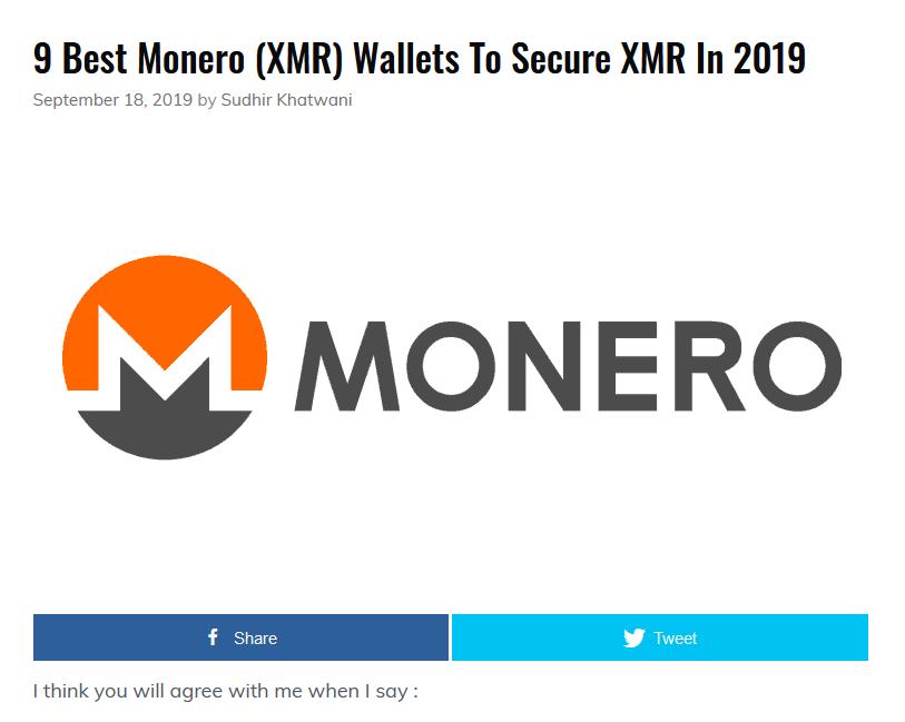 Kryptotop - Monero wallets