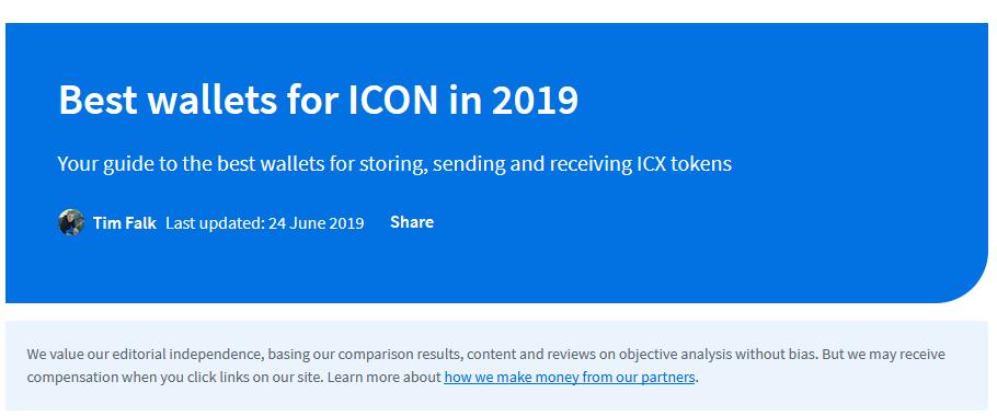 Kryptotop - ICON wallets