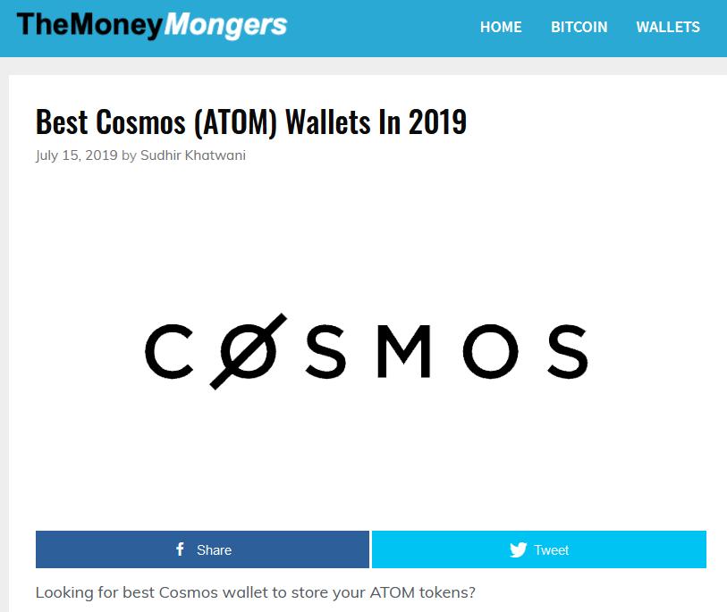 Kryptotop - Cosmos wallets