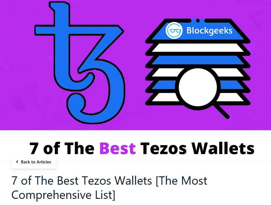 Tezos wallets