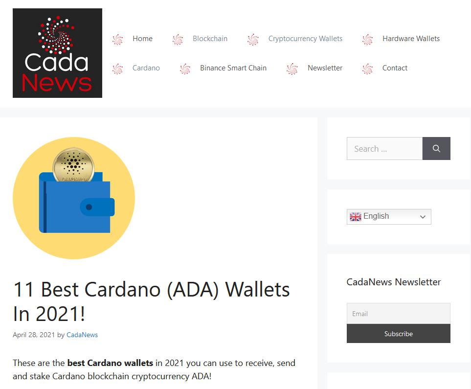 Cardano wallets