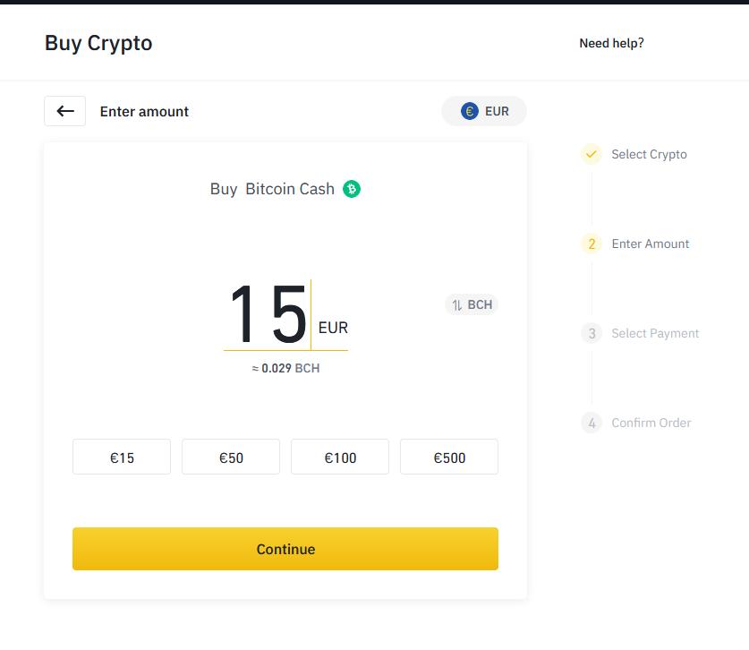 Binance 10 - Bitcoin Cash