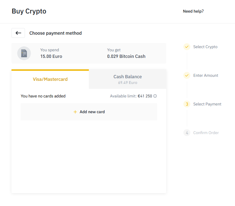 Binance 11 - Bitcoin Cash