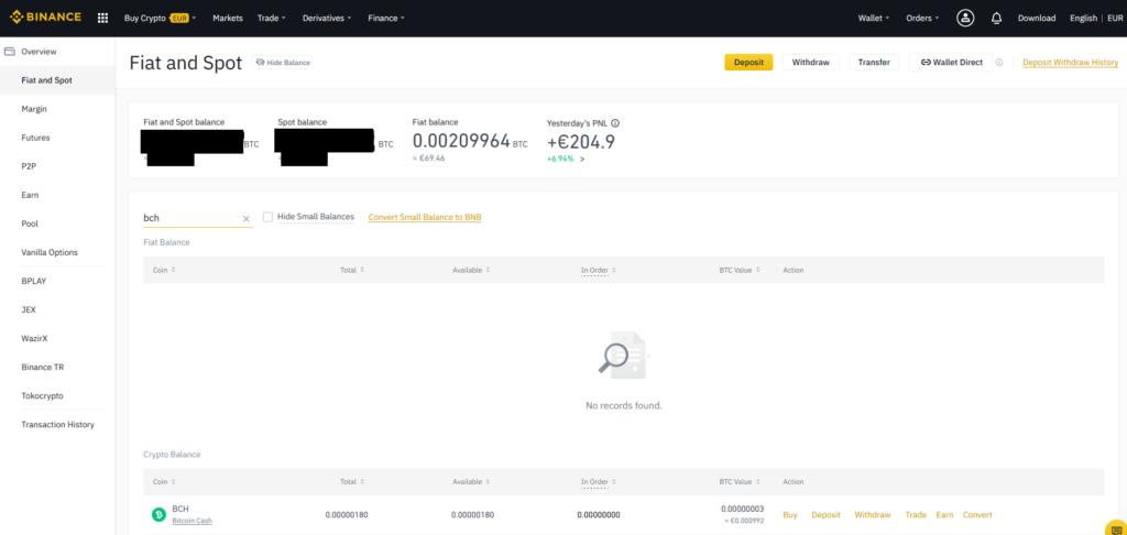 Binance 16 - Bitcoin Cash