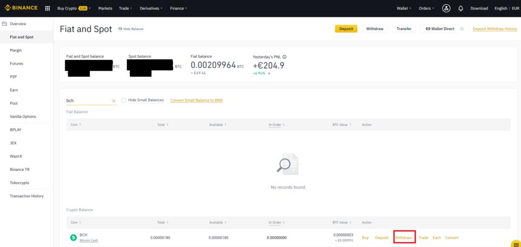 Binance 22 - Bitcoin Cash