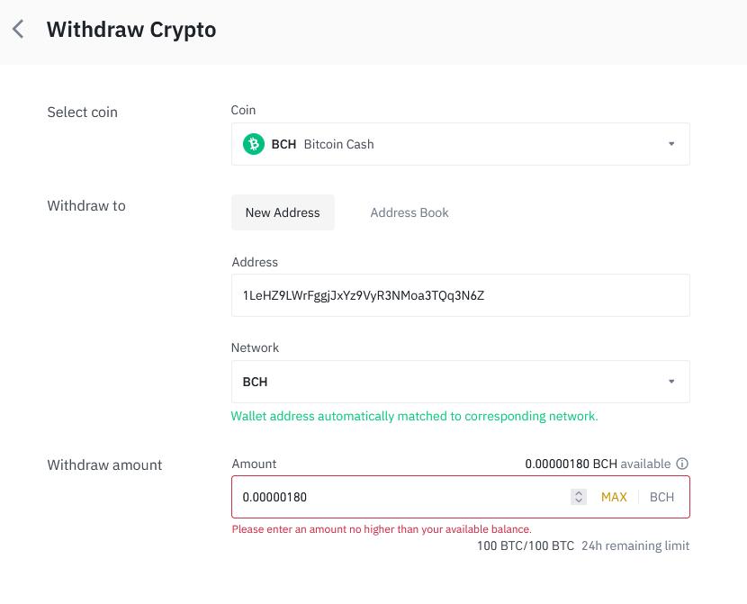 Binance 23 - Bitcoin Cash