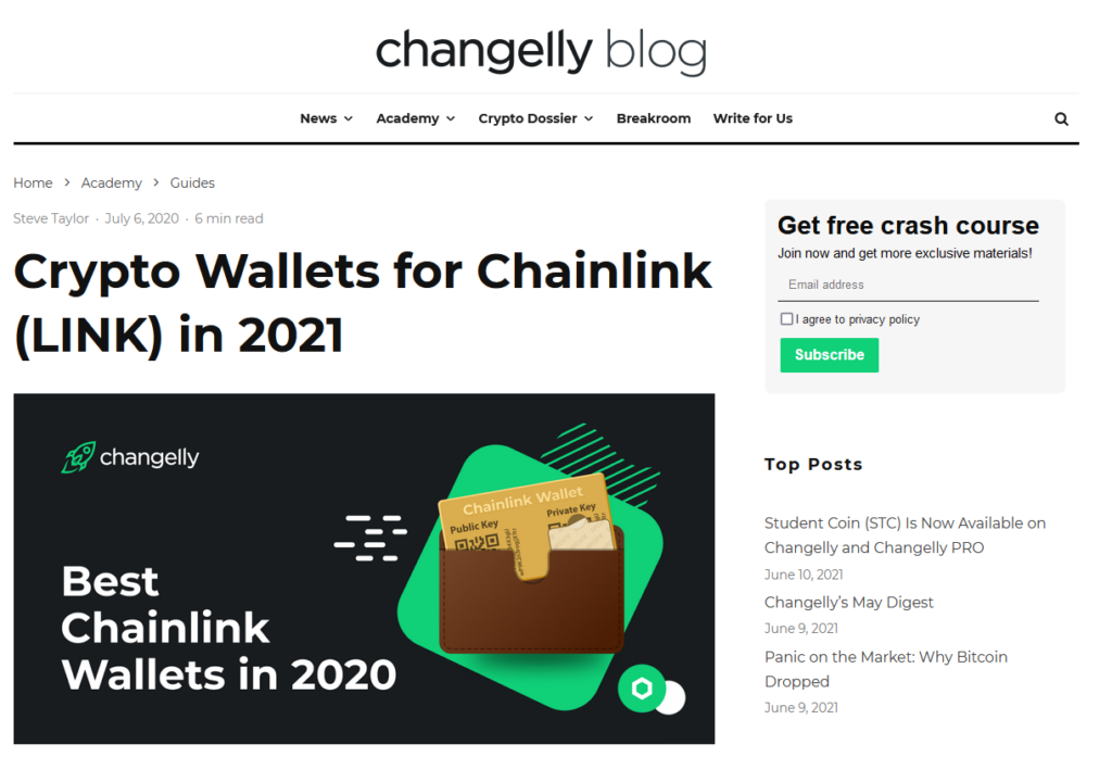 Chainlink wallets
