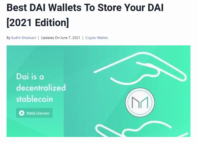 Dai wallets