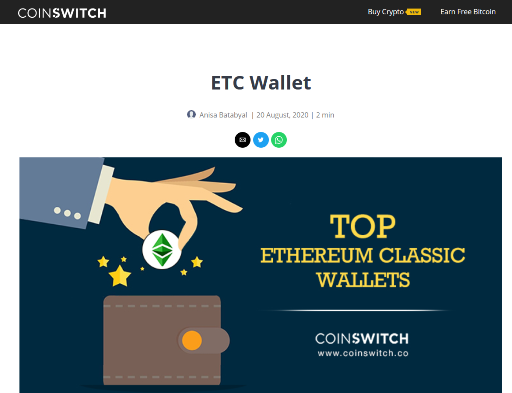 Ethereum Classsic wallets