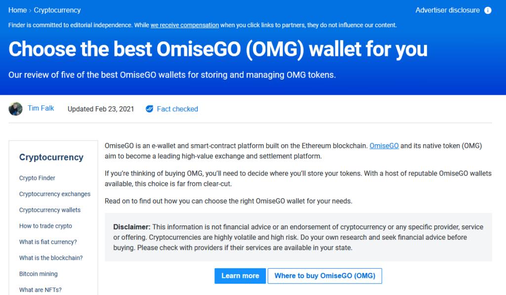 OMG Network wallets